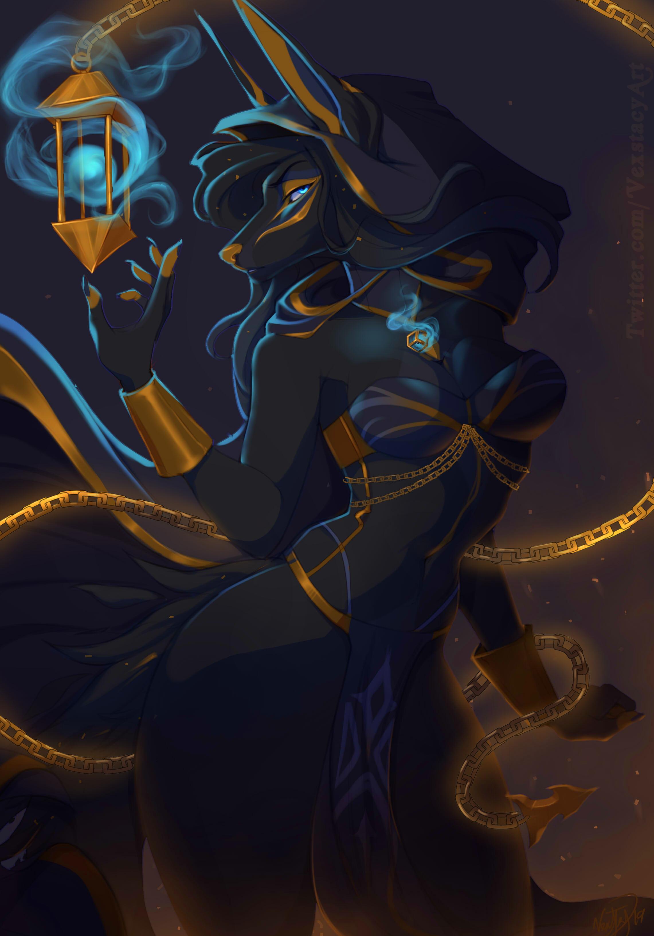 Anubian furry