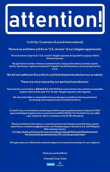 Stop Counterfeit Ishigaki Products