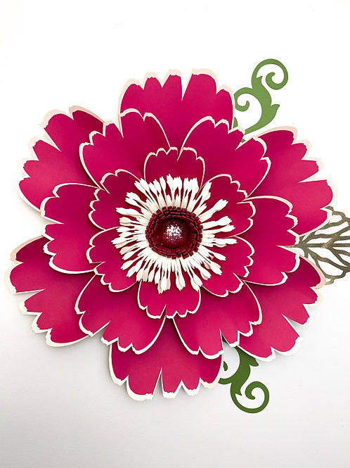 SVG PNG DXF Paper Flowers Petal 50 Paper Flower Template with flat Center