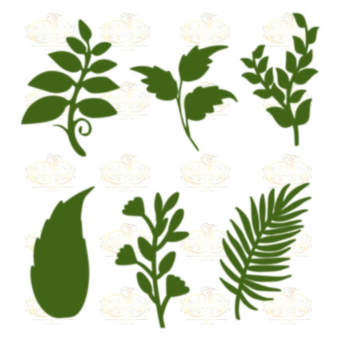 Set 26 Svg Png Dxf 6 different Leaves for Paper Flowers- MACHINE use Only