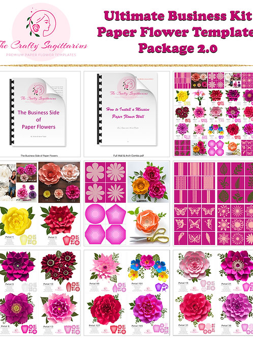 Ultimate Business Kit DIY Paper Flower Template Package 2.0