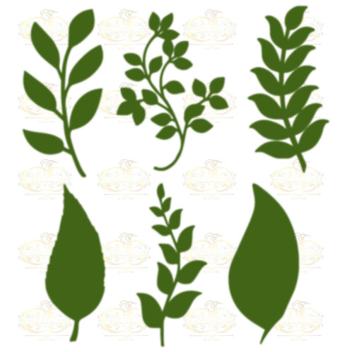 Set 23 Svg Png Dxf 6 different Leaves for Paper Flowers- MACHINE use Only