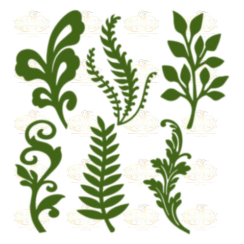 Svg PNG Dxf Set 10-6 different Leaves for Paper Flowers- MACHINE use Only