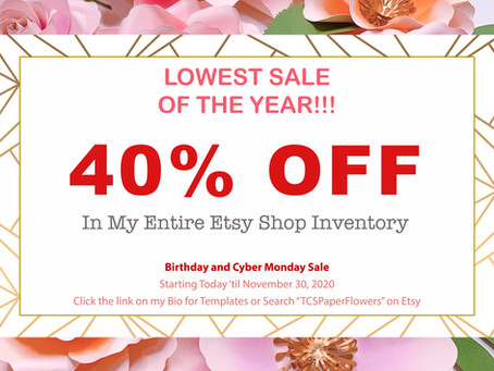 LOWEST SALE OF THE YEAR
