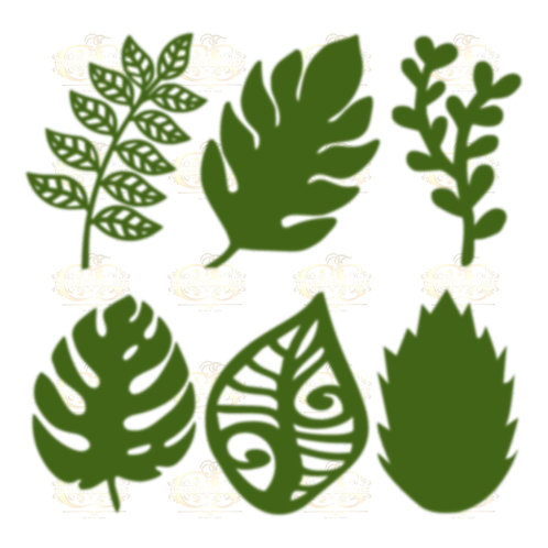 Svg/PNG Set 8-6 different Leaves for Paper Flowers- MACHINE use Only