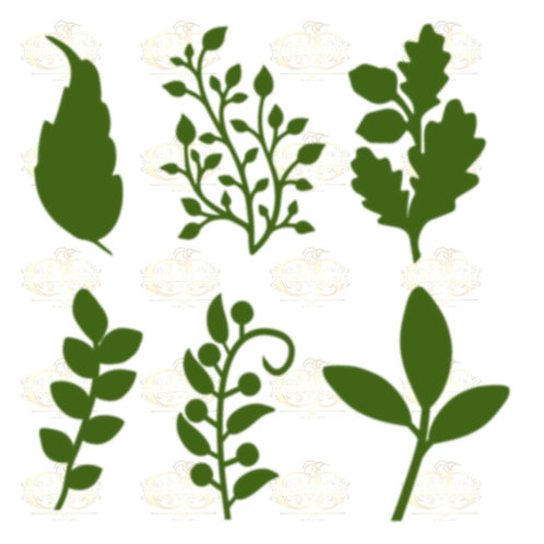 Set 22 Svg Png Dxf 6 different Leaves for Paper Flowers- MACHINE use Only