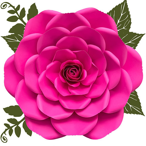 SVG PNG DXF Petal 23 Rose Cut Files for Cutting Machines
