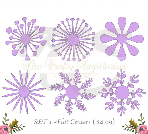 Svg set 1 6 different flat center for paper flowers machine use svg set 1 6 different flat center for paper flowers machine use only cricut mightylinksfo