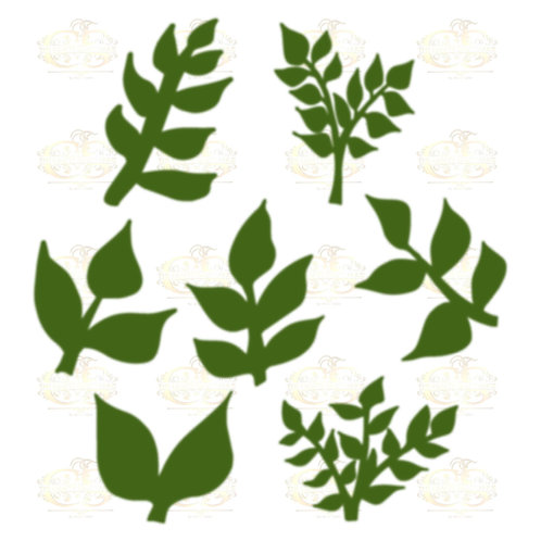Set 16 Svg Png Dxf 7 different Leaves for Paper Flowers- MACHINE use Only
