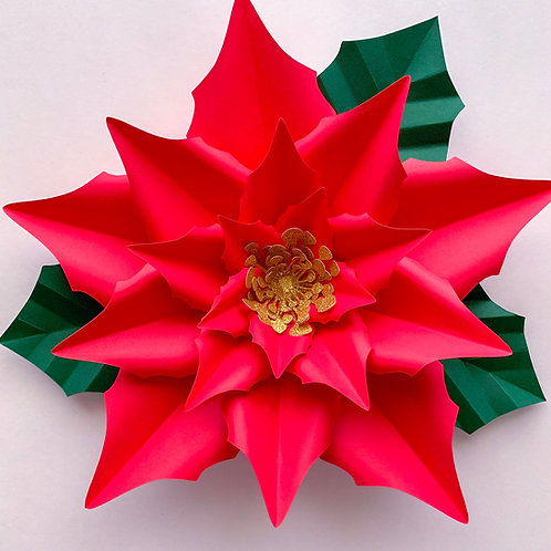 PDF Paper Flowers New Poinsettia Templates