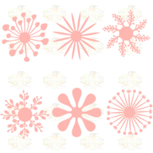 SVG Set 1-6 different Flat Center for Paper Flowers- MACHINE use Only -Cricut