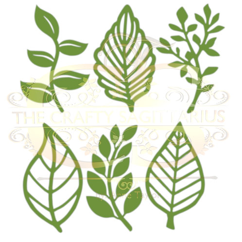 Svg/PNG/Dxf Set 8-6 different Leaves for Paper Flowers- MACHINE use Only