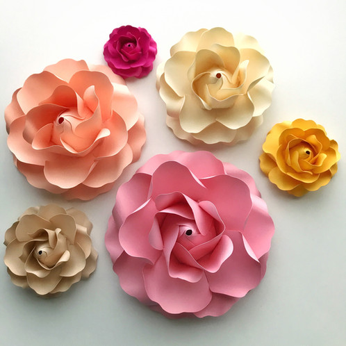 Svg paper flower tiny rose 1 template diy handmade paper flowers diy handmade paper flowers 599 sku 034 mightylinksfo Gallery
