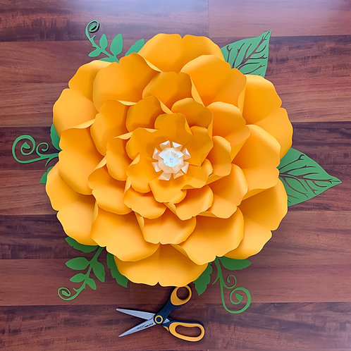 SVG FLOWER TEMPLATES Petal 32, with Png Dxf Cut Files for your Cutting Machines