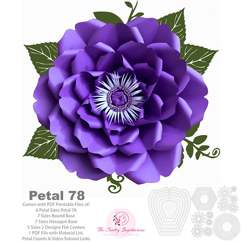 PDF Petal 78 Printable Cut Files for Trace and Cut