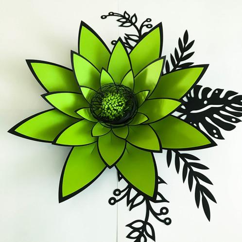 SVG Petal 4 Paper Flower Template With Base DIGITAL File For