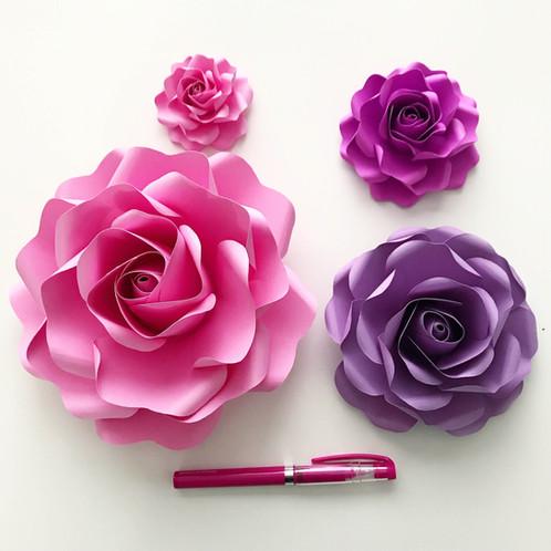 Pdf tiny rose 6 paper flower templates multiple sizes trace and pdf tiny rose 6 paper flower templates multiple sizes trace and cut file mightylinksfo