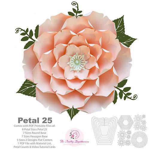 PDF Petal 25 Printable Cut Files Paper Flowers Template