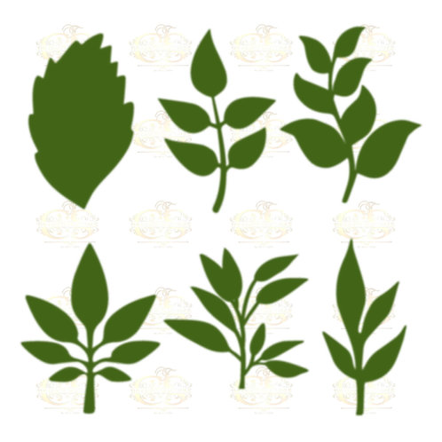 Set 29 Svg Png Dxf 6 different Leaves for Paper Flowers- MACHINE use Only