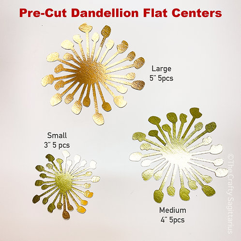 Pre-cut Dandelion Flat Center | Finishing Touches for your Giant Paper Flower
