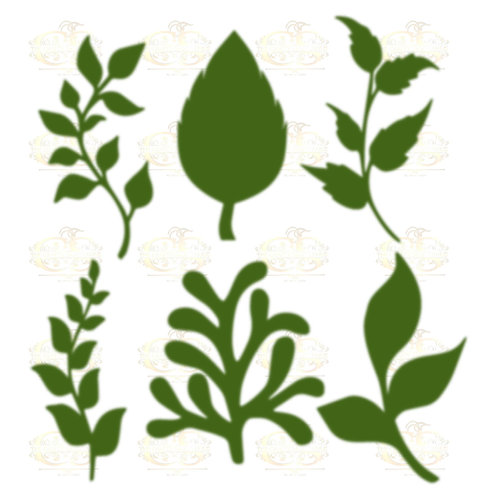 Set 27 Svg Png Dxf 6 different Leaves for Paper Flowers- MACHINE use Only
