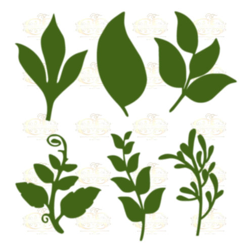 Set 25 Svg Png Dxf 6 different Leaves for Paper Flowers- MACHINE use Only