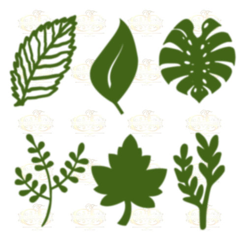 Svg Png Dxf Set 5-6 different Leaves for Giant Paper Flowers MACHINE use Only