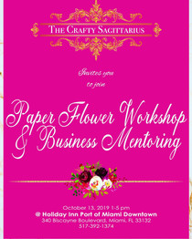 PAPER FLOWER WORKSHOP & BUSINESS MENTORING