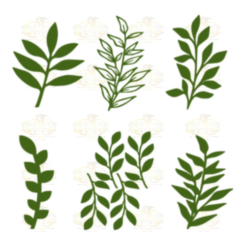 Set 34 Svg Png Dxf 6 different Leaves for Paper Flowers- MACHINE use Only