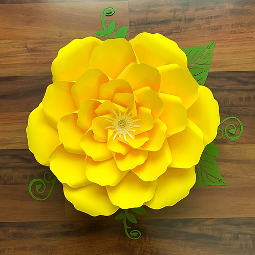 SVG PNG DXF Petal 27 Cut Files  Paper Flowers Template for cutting machine