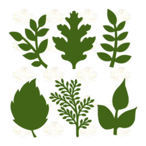 Set 15 Svg Png Dxf 6 different Leaves for Paper Flowers- MACHINE use Only