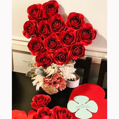Rose Bud SVG PNG DXF Paper Flower Rose Center | Machine Cut Files | Valentines