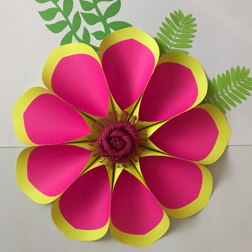 Pdf petal 2 paper flower template with base trace and cut file pdf files would not and will not work with cutting machines mightylinksfo
