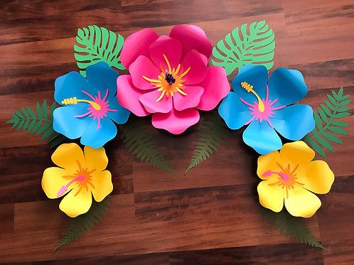SVG Petal 101 (Hibiscus) Paper Flower Template - DIY Cricut and Silhouette
