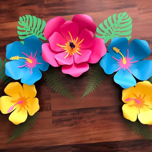 SVG Petal 101 Hibiscus Paper Flower Template