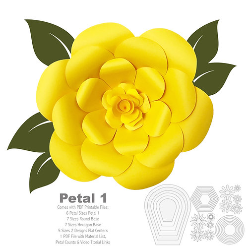 PDF Petal # 1  PRINTABLE (Trace and Cut File)