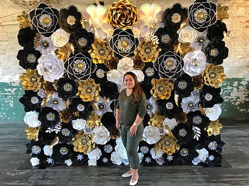 Tutorial On Building a Massive Paper Flower Wall + Ample of Tips