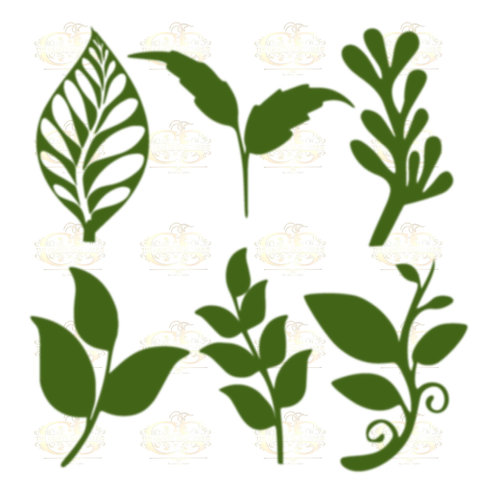 Set 24 Svg Png Dxf 6 different Leaves for Paper Flowers- MACHINE use Only