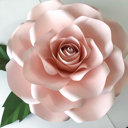 svg new large rose paper flower template diy cricut and silhouette machines rea paper flower. Black Bedroom Furniture Sets. Home Design Ideas