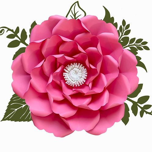 Paper Flowers, PDF Petal 30, Printable Pdf Instant Download Elegant Rose