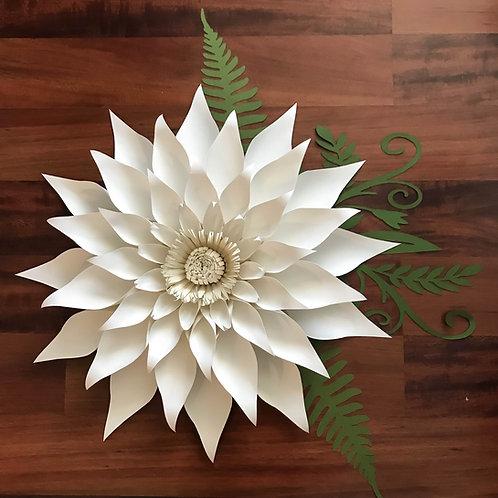 Paper Flowers - PDF Petal 89 Template- Trace and Cut Files DIY