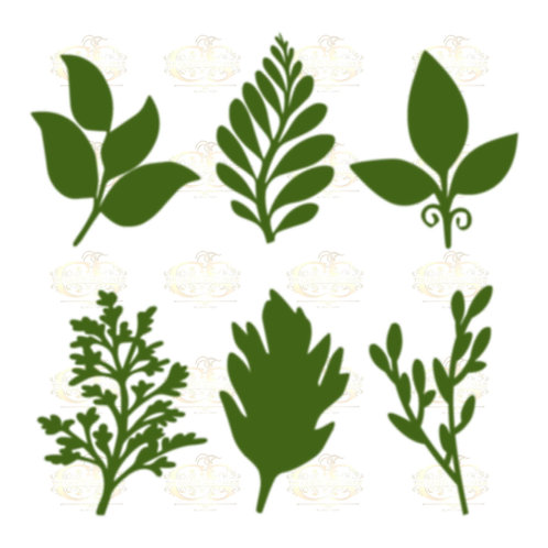 Set 30 Svg Png Dxf 6 different Leaves for Paper Flowers- MACHINE use Only