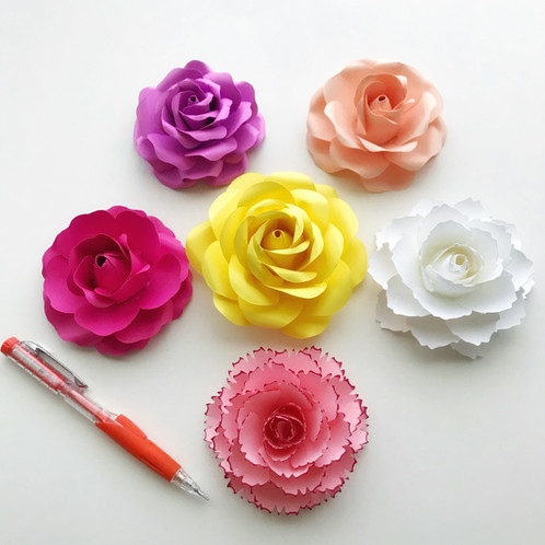 Svg paper flower tiny rose 1 template diy handmade paper flowers mightylinksfo