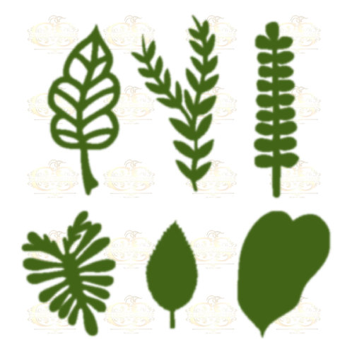 Svg PNG DXF Set 1-6 different Leaves for Paper Flowers Machine use Only