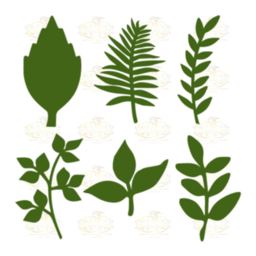 Set 32 Svg Png Dxf 6 different Leaves for Paper Flowers- MACHINE use Only (Cricu