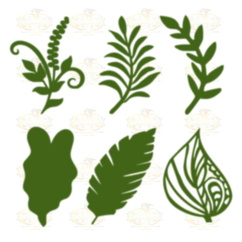 Svg PNG Dxf Set 4-6 different Leaves for Paper Flowers- MACHINE use Only