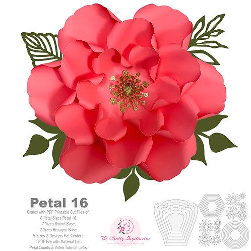 PDF Petal 16 Printable Cut file Templates 3d DIY Paper flower for Wedding Events