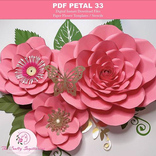 Petal 3 PRINTABLE PDF DIY Giant Paper Flower Templates | Trace n Cut