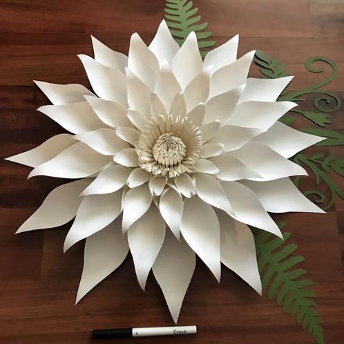 Paper Flowers SVG Petal 89 Dahlia Flower Template