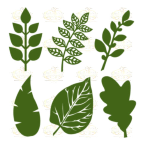 Svg Png Dxf Set 3-6 different Leaves for Paper Flowers- MACHINE use Only
